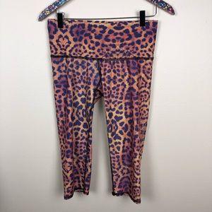 Teeki purple awakening goddess capri leggings